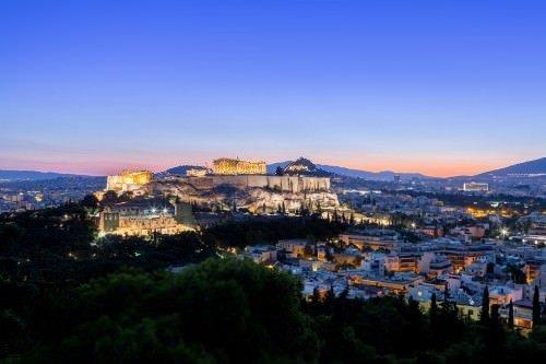 Acropolis view (sunrise!) from Filopapou Hill. Sunrise Athens Photo tour