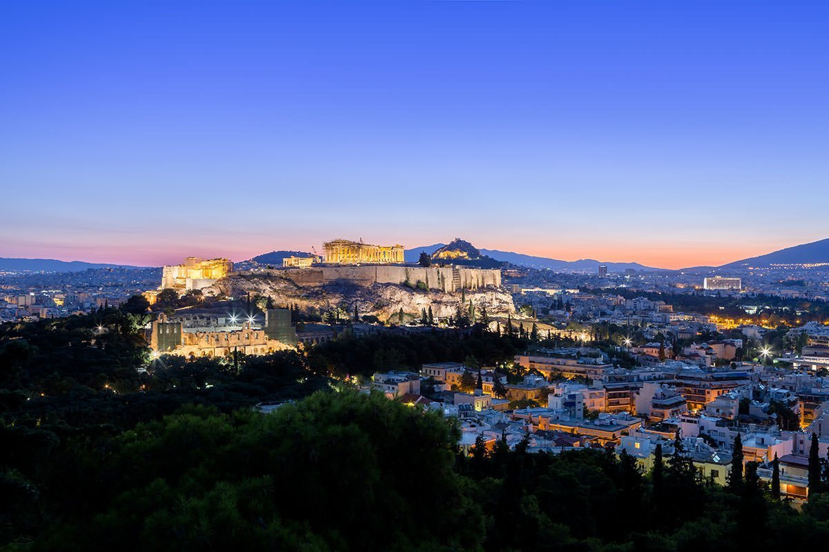 Acropolis view (sunrise!) from Filopapou Hill. Sunrise Athens Photo tour